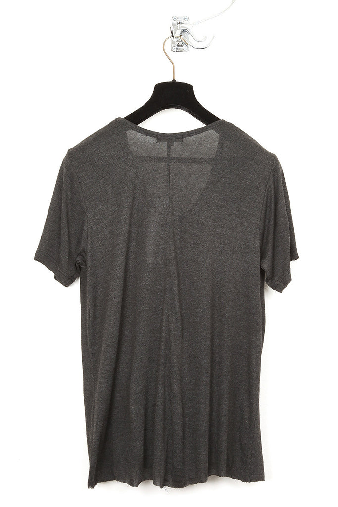 UNCONDITIONAL charcoal loose knit rayon scoop neck t-shirt.