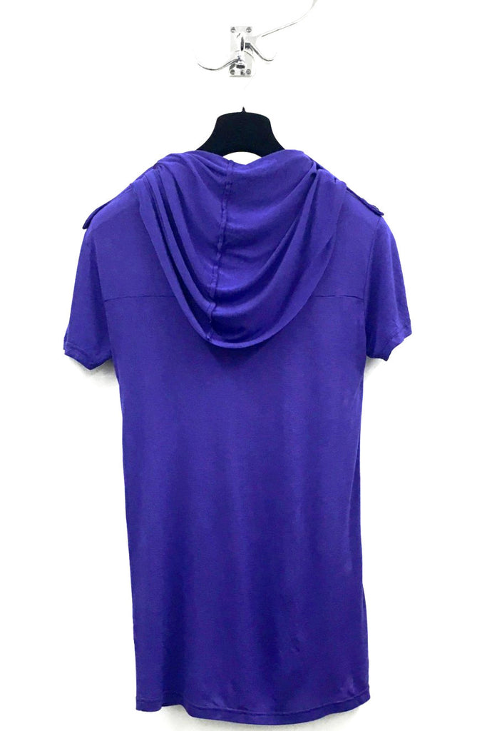 UNCONDITIONAL Electric purple short sleeved ghost hoodie.