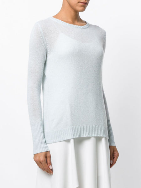 65e157ea7d7db8 UNCONDITIONAL Ice Blue loose knit round neck silk cashmere sweater