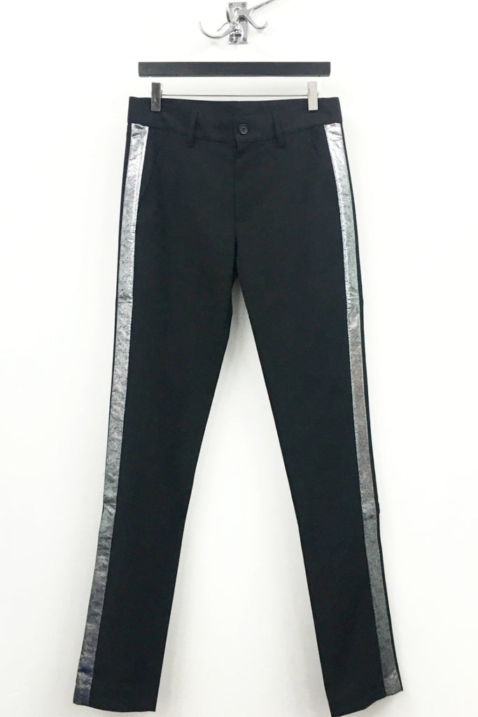 UNCONDITIONAL SS17 Black tailored cigarette tuxedo trousers