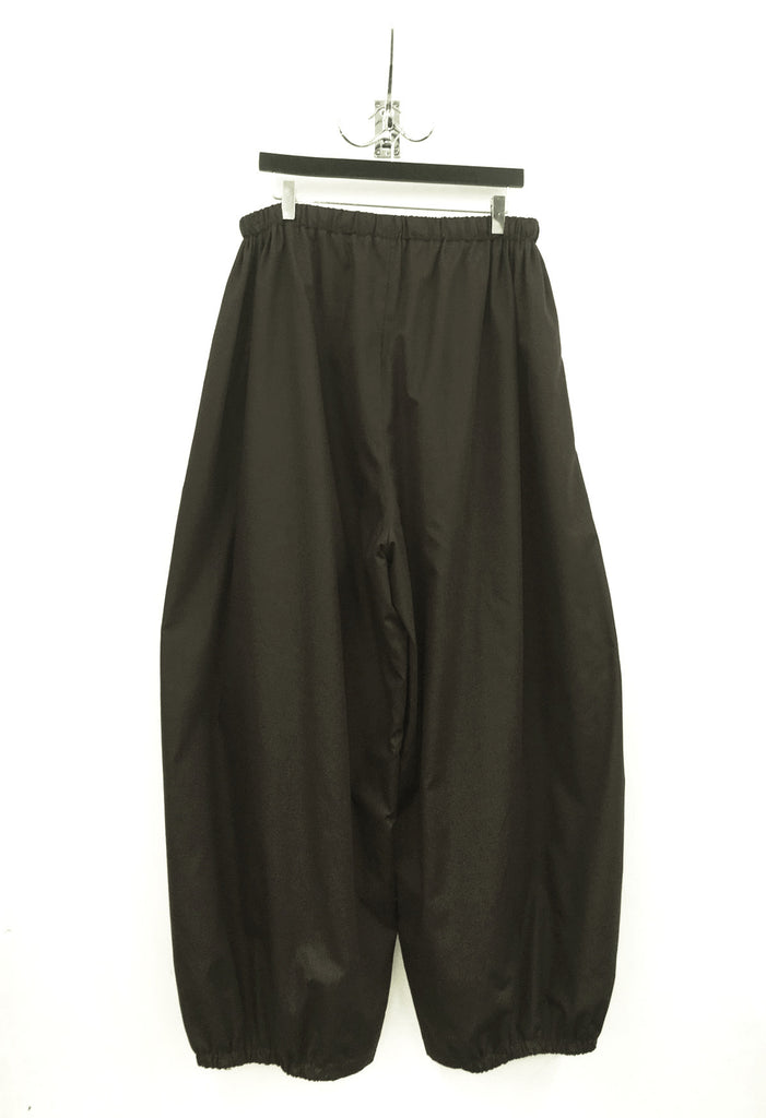 UNCONDITIONAL Black double layer cotton voile cocoon trousers