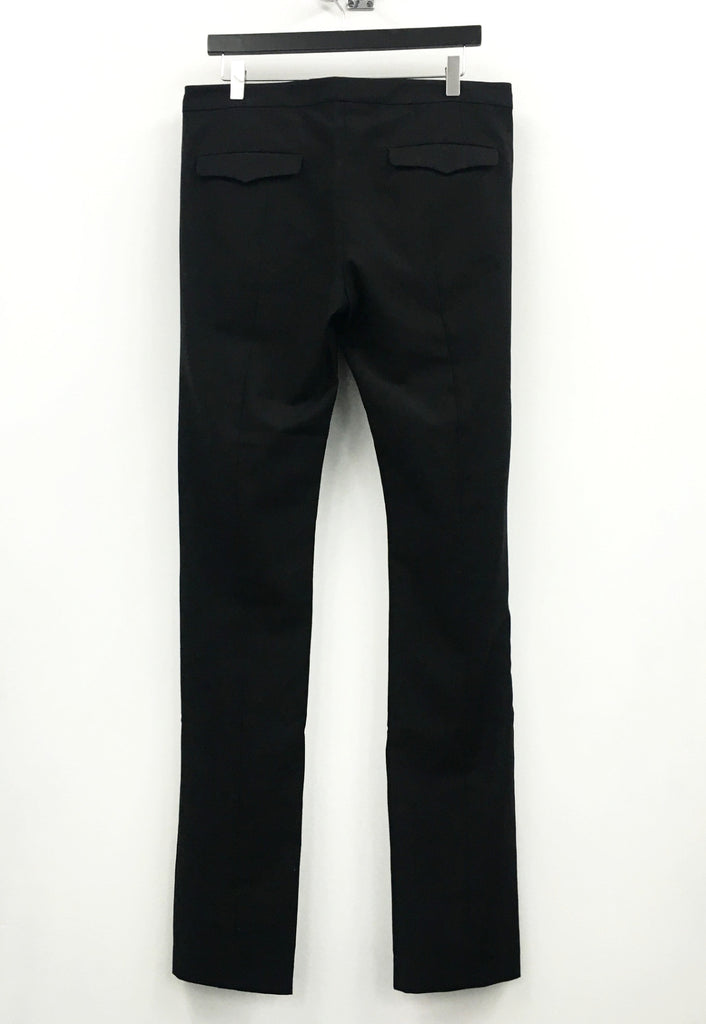 UNCONDITIONAL black wool crepe trousers