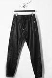 UNCONDITIONAL AW19 LEATHER LOOK black matt foiled track pants