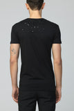 UNCONDITIONAL black scoop neck t-shirt with black hand beading.
