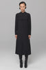 UNCONDITIONAL Black Heavy Silk crepe long monastic shirt dress