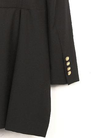 UNCONDITIONAL Black cutaway tailcoat with military gold cuff buttons