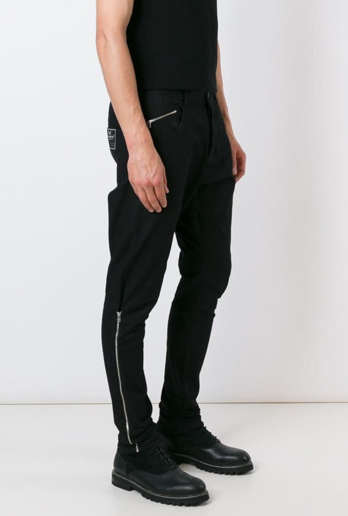 UNCONDITIONAL Jet black signature denim side zip jeans
