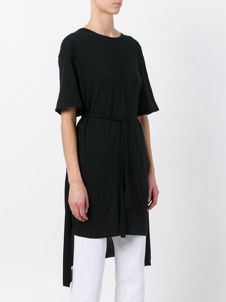 UNCONDITIONAL Black cape back tunic Tshirt dress with optional belt
