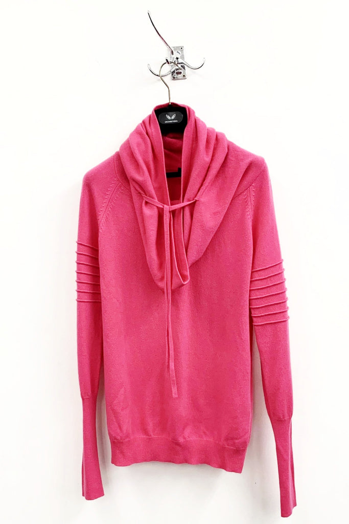 UNCONDITIONAL Pink pure Grade A Cashmere pink funnel neck sweater