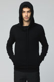 UNCONDITIONAL mens NEW BLACK SLOUCHY POCKET CASHMERE HOODIE