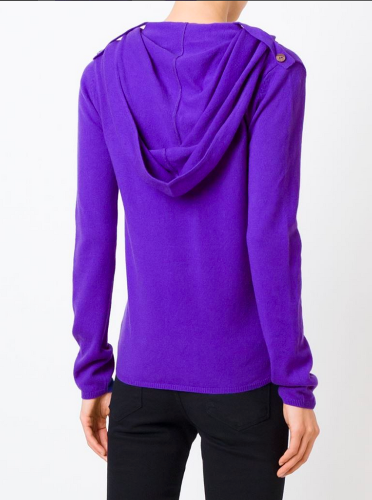 "UNCONDITIONAL Womens Electric Purple Grade A cashmere ""Ghost Hoodie"""