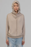 UNCONDITIONAL NEW SLOUCHY POCKET HOODIE IN BISCUIT CASHMERE.