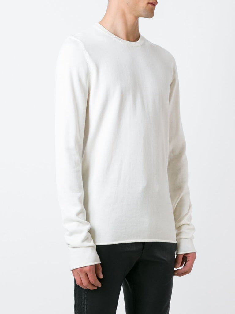 UNCONDITIONAL OFF WHITE COTTON CASHMERE X LONG SLEEVED SWEATER