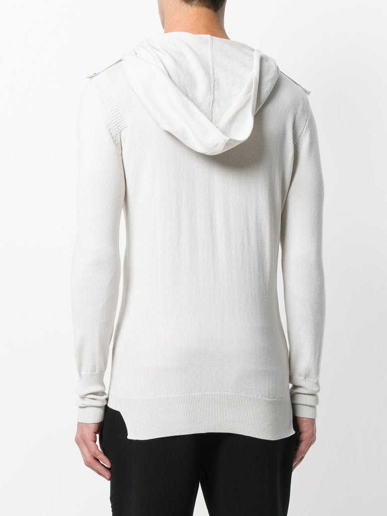 UNCONDITIONAL Dirty White cotton knit Ghost hoodie sweater