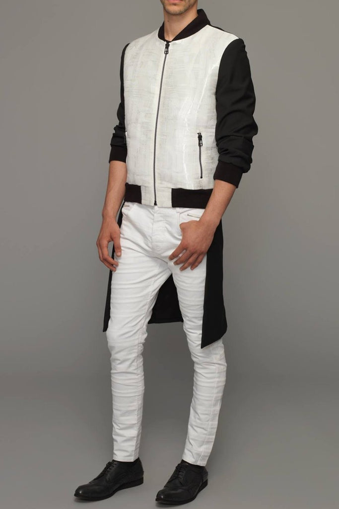 UNCONDITIONAL Signature black | white tailcoat bomber jacket