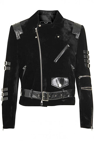 UNCONDITIONAL All Black 'line of beauty' angled cutaway jacket