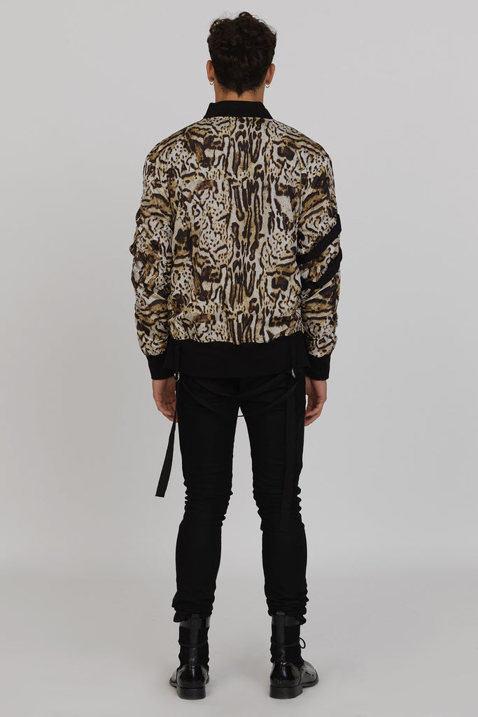 UNCONDITIONAL's AW17 PRE Animal oversized bondage shower proof bondage bomber