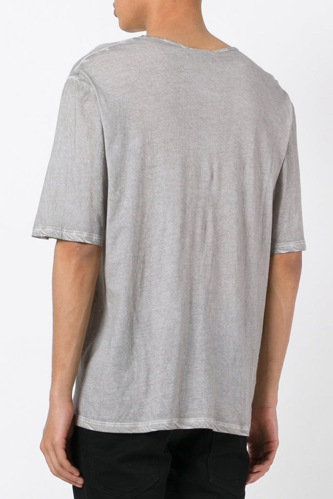 UNCONDITIONAL Desert Sand cold dye cotton oversized crew neck tee.