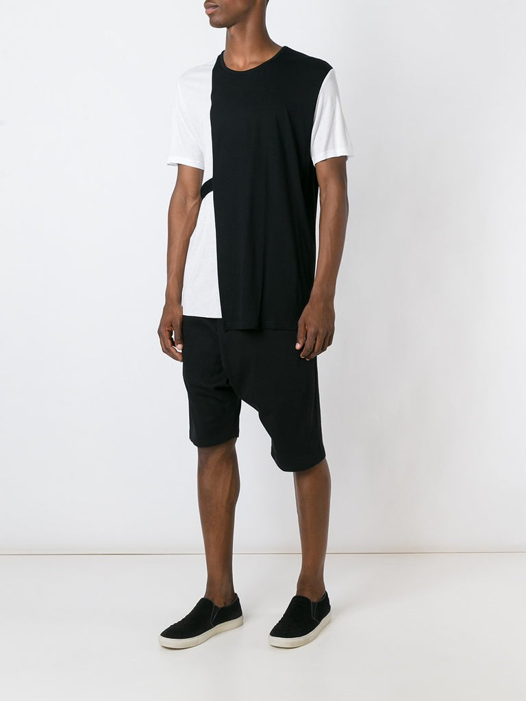 UNCONDITIONAL AW18 Black and White loose panelled strap T-shirt