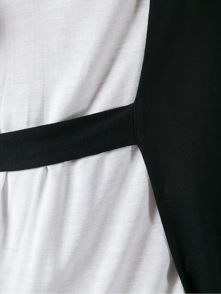 UNCONDITIONAL Black and White loose panelled strap T-shirt