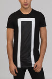 UNCONDITIONAL Black and White foiled fine jersey t-shirt.