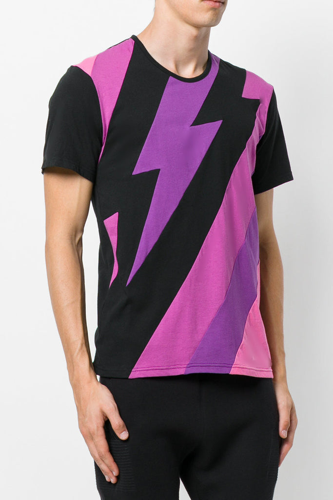 UNCONDITIONAL AW17 Blacks / pinks/ purple Ziggy cotton tee