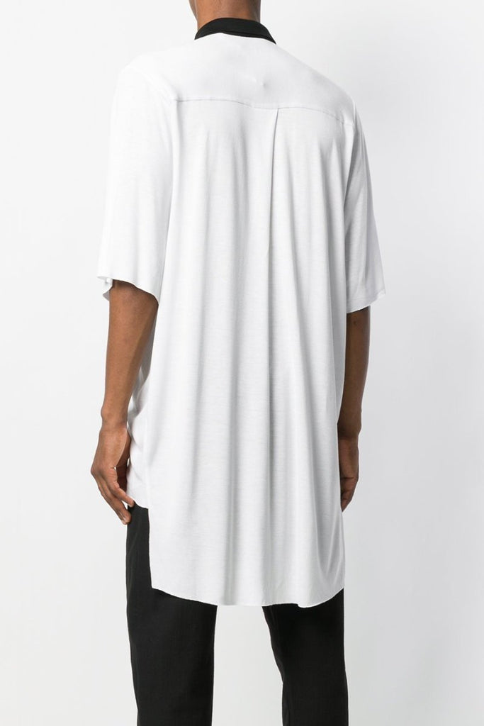 UNCONDITIONAL SS19 White / Black short sleeve slouchy tail back shirt