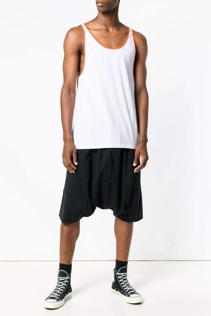 UNCONDITIONAL SS19 Black drop crotch sarouel jersey shorts