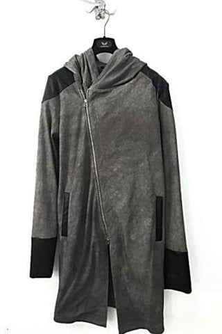 UNCONDITIONAL AW18 L/S Military Cold dye hooded, cape, drape waistcoat T-shirt