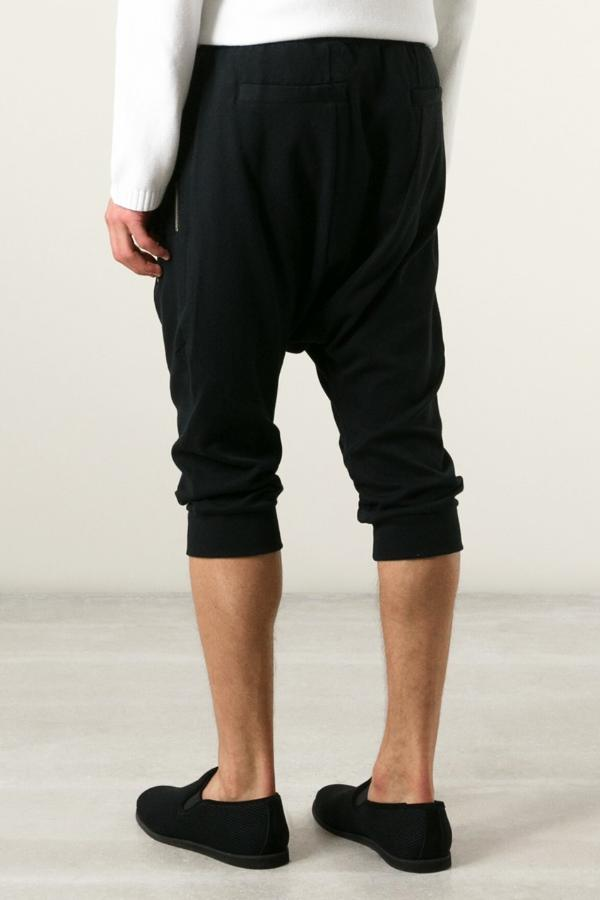 UNCONDITIONAL Black with double silver zips drop crotch shorts with new seam detail.