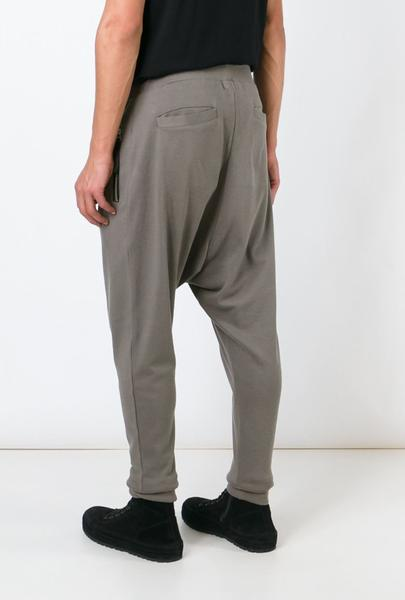 UNCONDITIONAL Dirt drop crotch full length jersey trouser with double zip pockets.