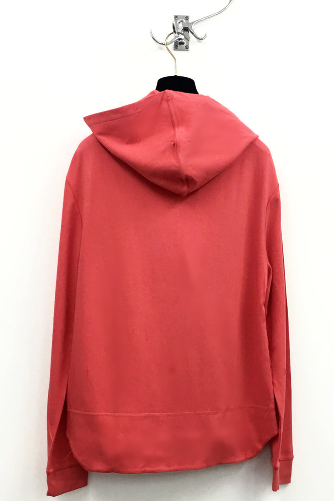 UNCONDITIONAL Coral jersey long sleeved zip up ghost hoodie.