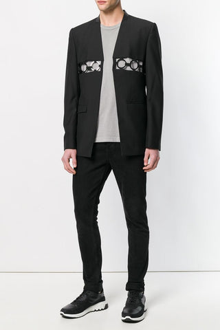 UNCONDITIONAL SS19 Black | Old Gold Cropped Mens Matador jacket