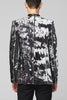 UNCONDITIONAL Black and white combable sequin angled cutaway jacket