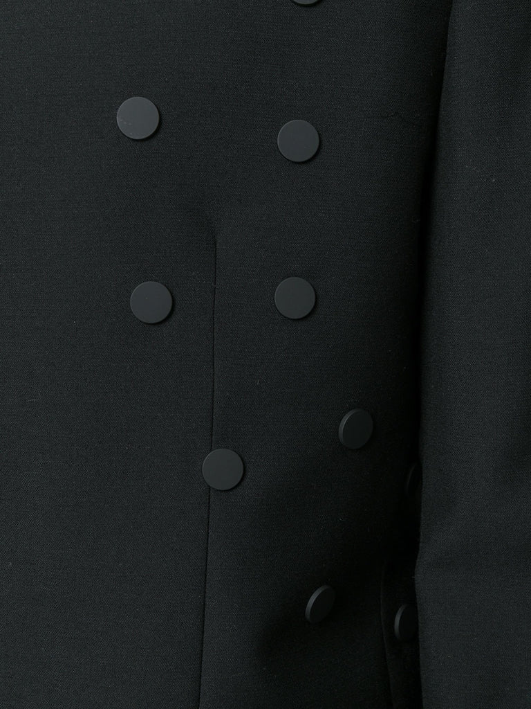UNCONDITIONAL SS18 Black 1 button jacket with black scarification popper detailing