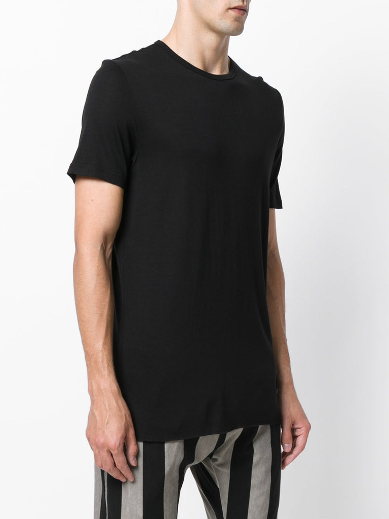 UNCONDITIONAL SS19 Black loose knit rayon crew neck T-shirt.