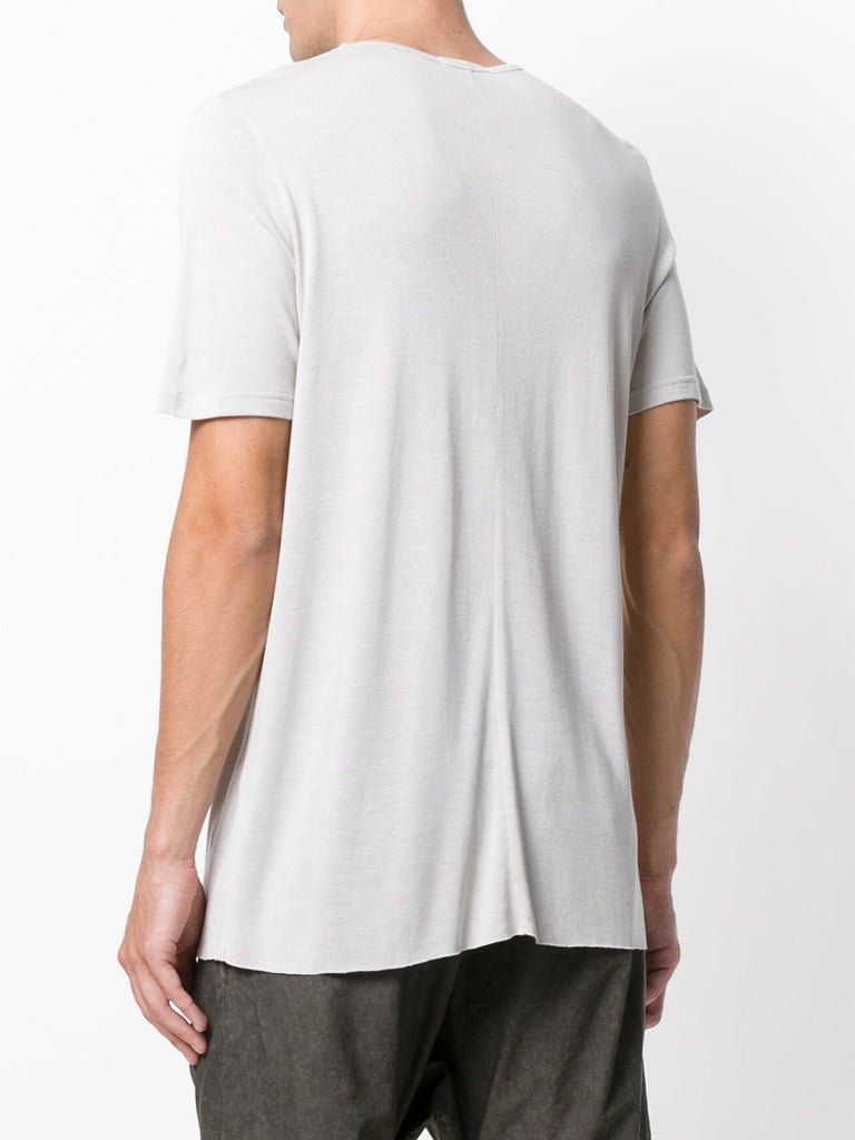 UNCONDITIONAL Dirty White loose knit rayon crew neck T-shirt.
