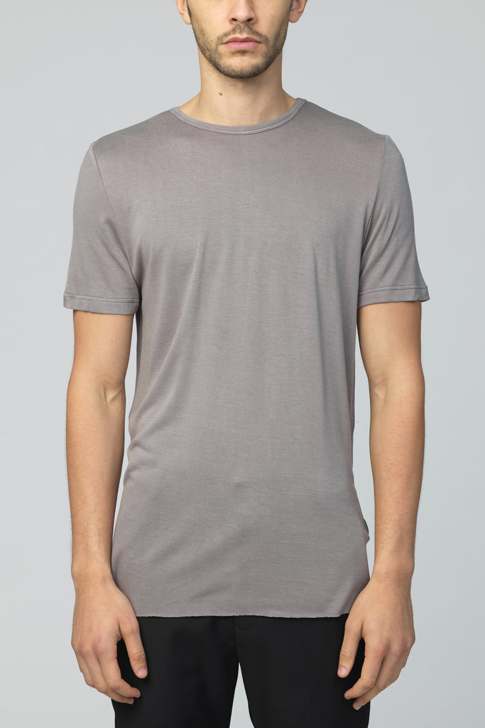 UNCONDITIONAL Mud loose knit rayon crew neck T-shirt.