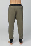 UNCONDITIONAL Military sweat trousers with dark silver contrast tuxedo stripe