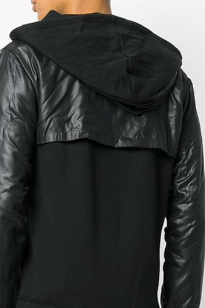 UNCONDITIONAL military and black sweat zip up hoodie with microfibre layer