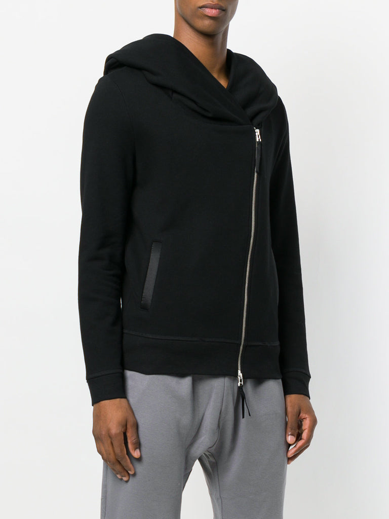 UNCONDITIONAL AW19 signature black biker hoodie with back tail