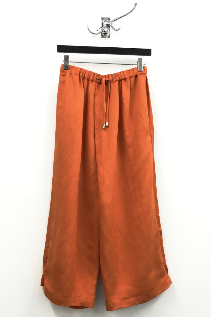 UNCONDITIONAL Orange linen tencel mix unisex sporty culottes