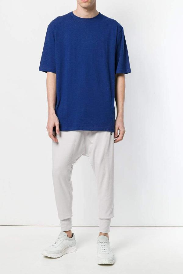 UNCONDITIONAL Azure crew neck oversized T-shirt with contrast black back