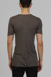 UNCONDITIONAL aw19 Mud ribbed rayon V- neck T-shirt.