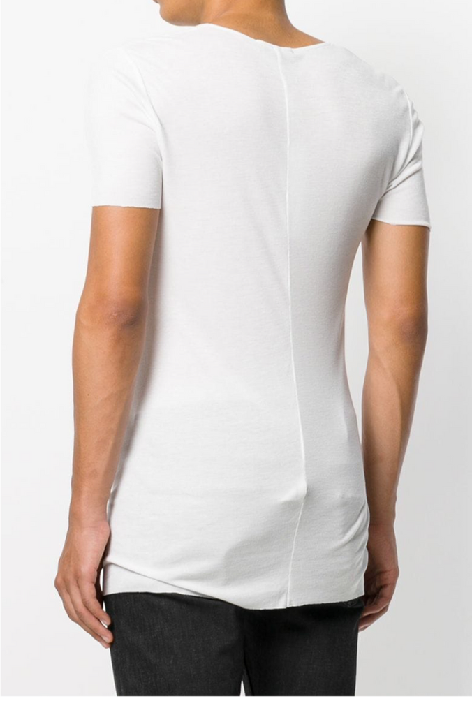 UNCONDITIONAL AW19 White rayon rib crew neck T-shirt