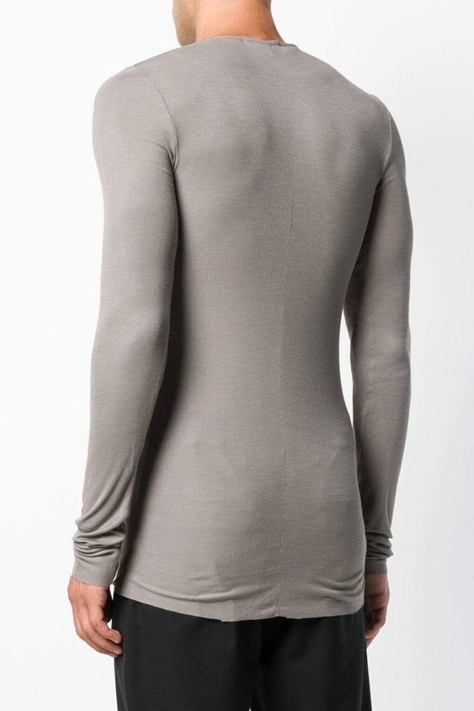 UNCONDITIONAL SS19 Mud fine rayon rib long sleeved T