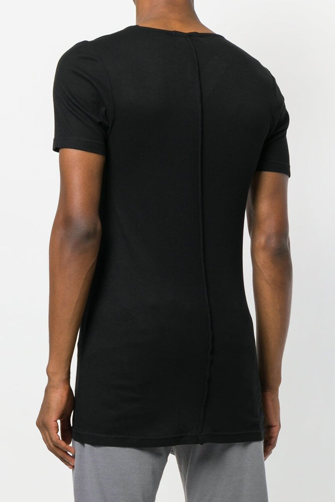 UNCONDITIONAL SS19 new black scoop neck rayon rib T-shirt.