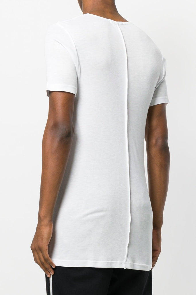 UNCONDITIONAL AW18 new white scoop neck rayon rib T-shirt.