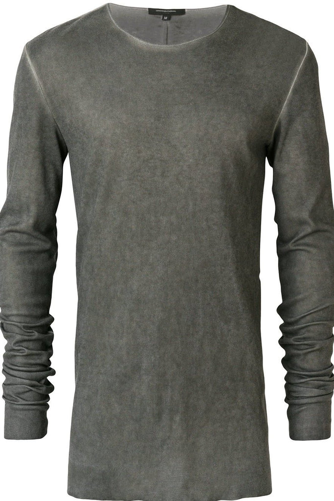 UNCONDITIONAL AW19 Military Cold Dye rayon|cashmere|silk  long sleeved T