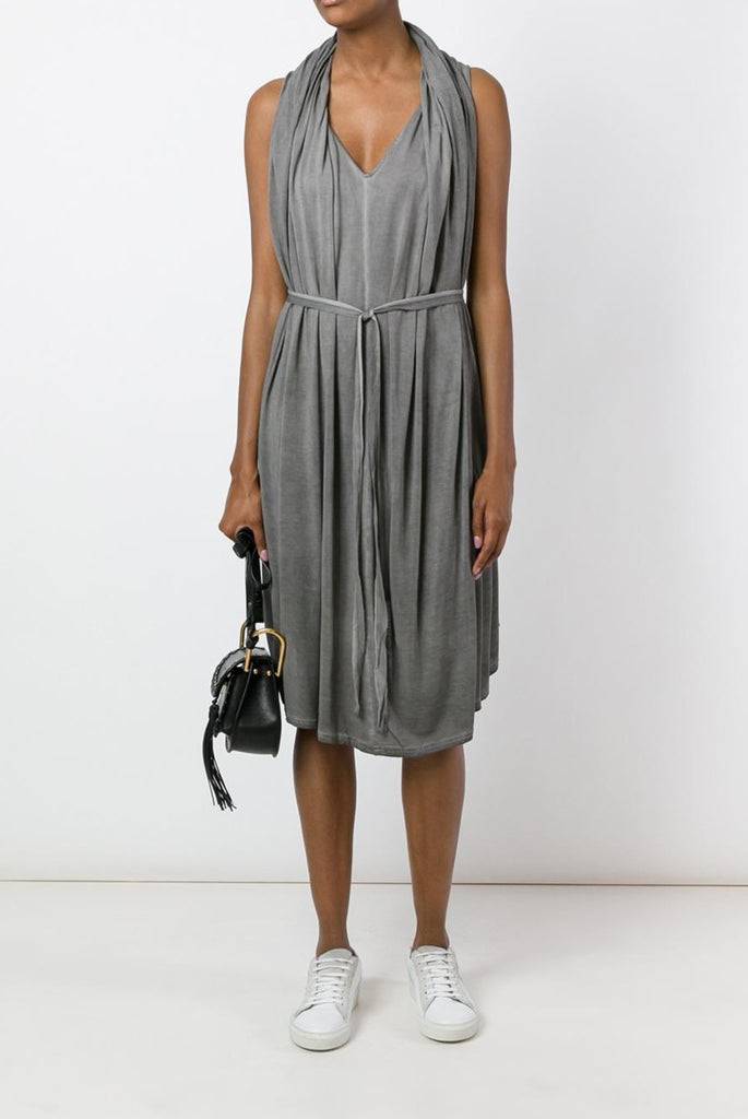 UNCONDITIONAL Desert Sand cold dye cape drape vest dress.